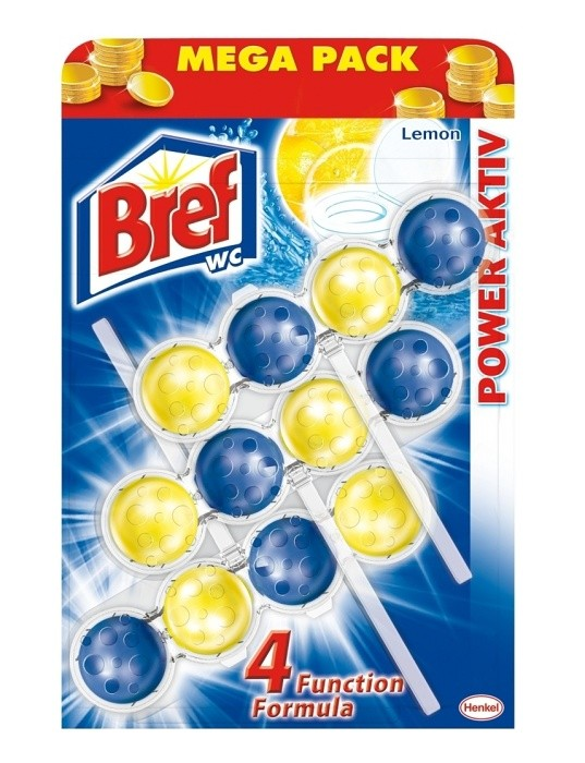 BREF WC POWER ACTIVE- LEMON guličky 3x50g